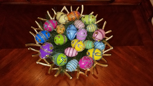 Pier 1 Inspired Easter Eggs DIY With Bling Bling