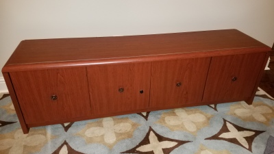 Furniture Transformation - Credenza Up-Cycled To Window Seat